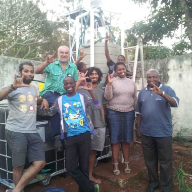 The Solar CITIES Swaziland team, co-led by  Sundowner's Backpacker's Lodge owner Sergio Almeida, the construction expert and innovative philanthropist who built two digesters with us and made his staff, vehicles, workshop and tools available for our build at the farm.