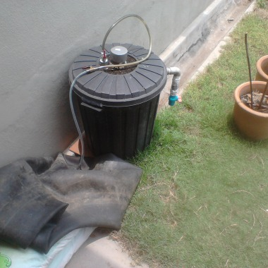 collecting biogas