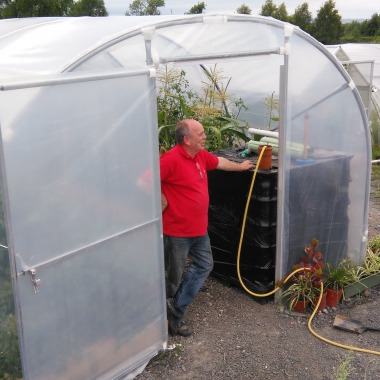 Men's Shed Biodigester in a hoop house in Portlaoise, Ireland