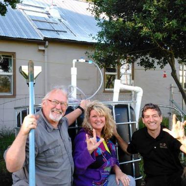 Redding California's first Solar CITIES IBC Tank Biodigester
